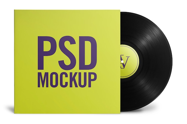 Mockup vinyl with cover