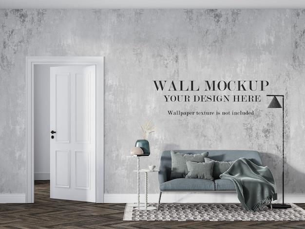 Мокап стены для дизайна обоев