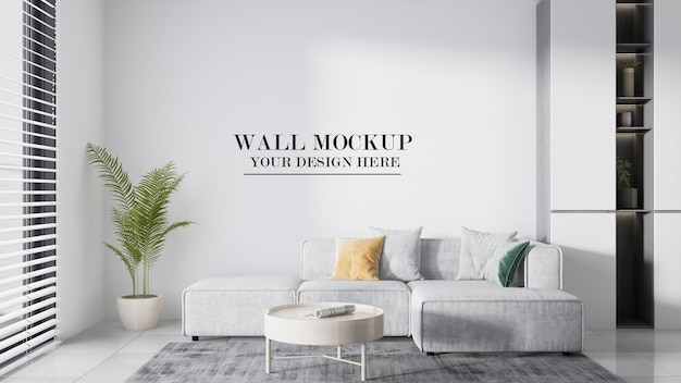 Mockup wall for your design materials