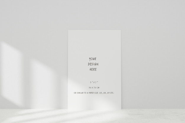 Mockup white realistic empty picture frame