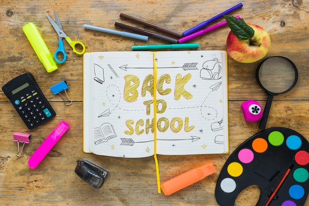 Mockup with back to school concept