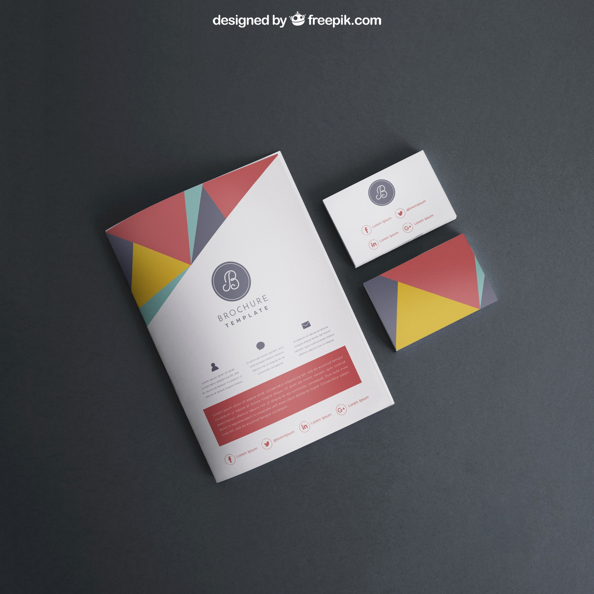 Mockup with cover and business cards