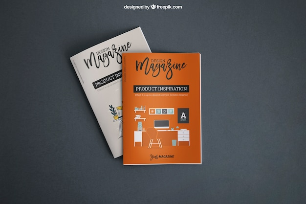 Mockup with covers