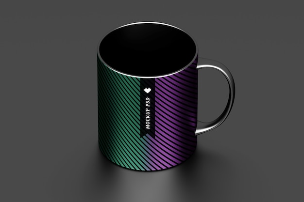 Mockup with cup of coffee