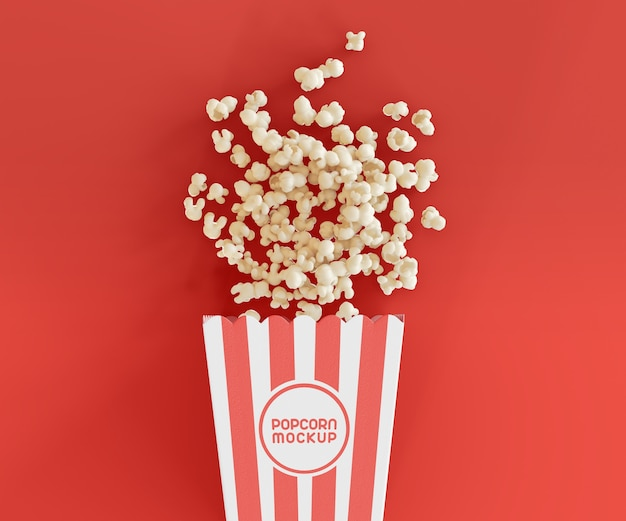 Mockup with popcorn bucket