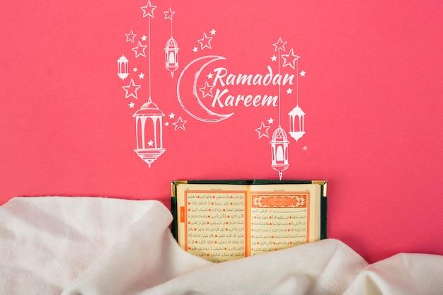 Mockup with ramadan concept