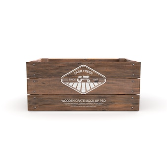 Mockup of wooden crate isolated