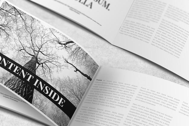 Ландшафтный журнал или брошюра mockup