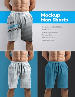 Mockups athletic shorts man