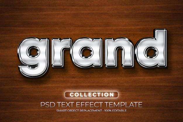 Mockups grand metallic signage text effect custom