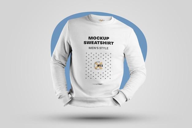 Mockups mens 3d 스웨트 셔츠