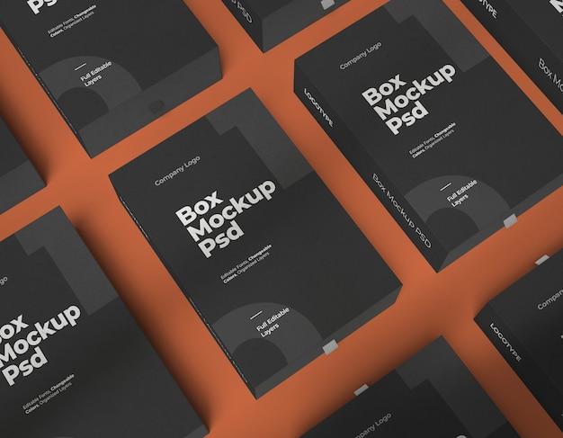 Мокапы коробок с изменяемым цветом и редактируемыми слоями