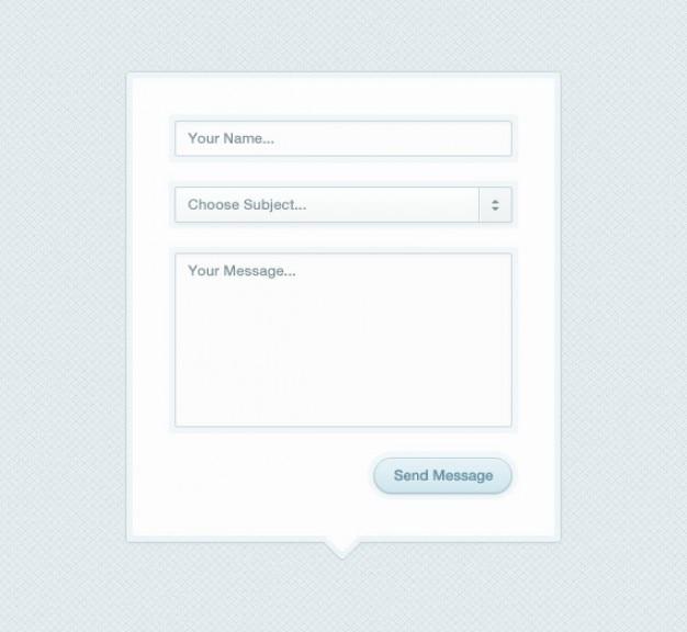 Модальные контактный формуляр box (psd)