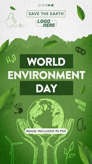 Model for composing world environment day stories on social networks
