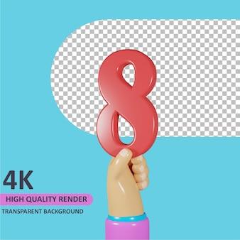 モデリング3dオブジェクトレンダリング手持ち番号