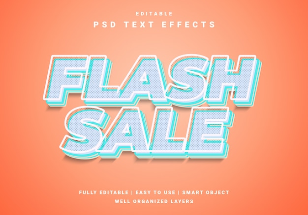 Modern 3d flash sale text effect
