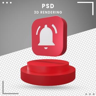 分離された最新の3d回転アイコン通知 Premium Psd