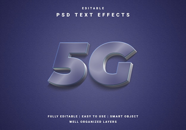 Modern 5g color text effect