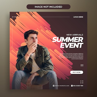 Modern abstract background social media template