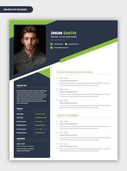 Modern abstract professional cv resume template