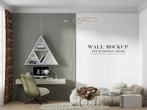질감을 위한 현대적이고 세련된 십대 방 벽 배경