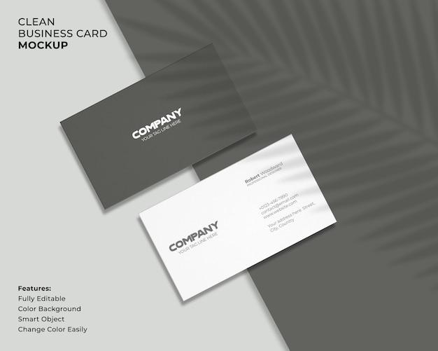 Современный и чистый макет визитки