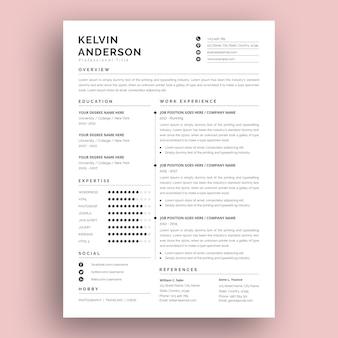 Современный и креативный дизайн шаблона резюме