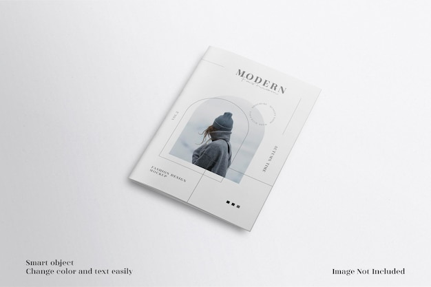モダンでミニマリストのa4パンフレットまたはチラシのモックアップ Premium Psd