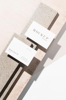 Modern arrangement of mock-up business card