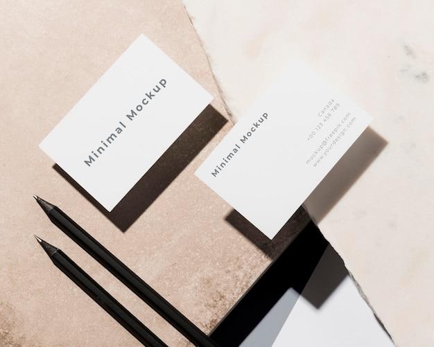 Современное оформление макета визитки