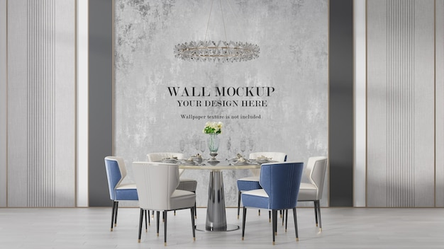 Modern art deco interior wall mockup