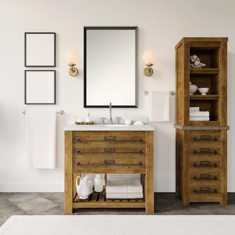 モダンなバスルーム家具