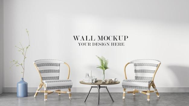 Modern beach house wall mockup