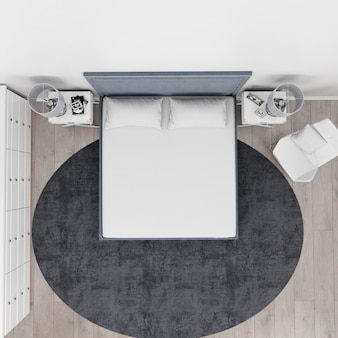 현대 침실 평면도