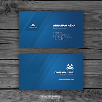 Modern blue business card design with corporate concept