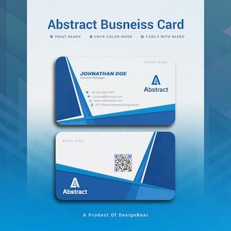 Modern blue business card mockup Premium Psd