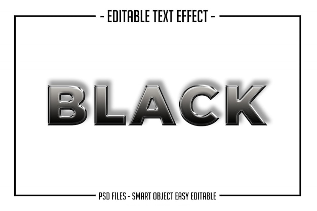 Modern bold black glossy text style  font effect