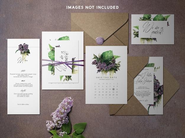Modern branding identity mockup purple theme