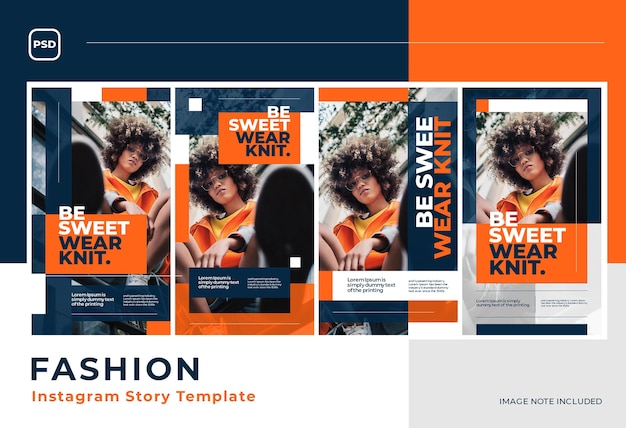 Modern bright fashion social media  template