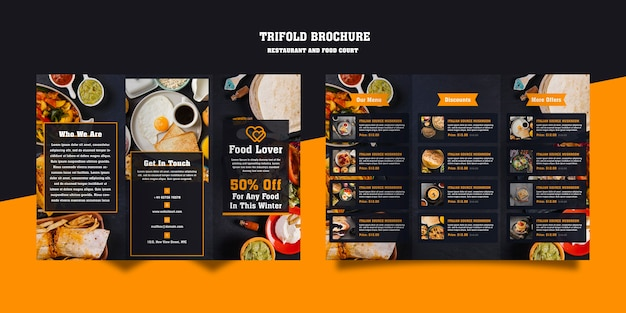 Modern brochure for breakfast restaurant