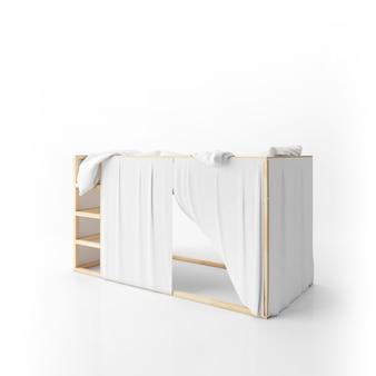 分離されたモダンな二段ベッドのデザイン