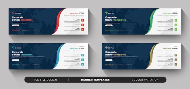 Modern business banner with variation color