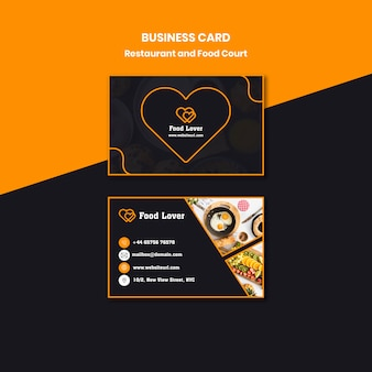 Modern business card for breakfast restaurant