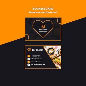 Modern business card for breakfast restaurant