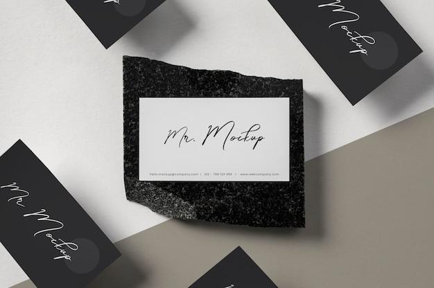 Modern business card mock-up arrangement