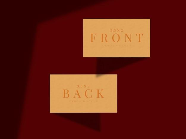Design moderno per biglietti da visita mock-up per marchio di presentazione, identità aziendale, personale con sovrapposizione di ombre
