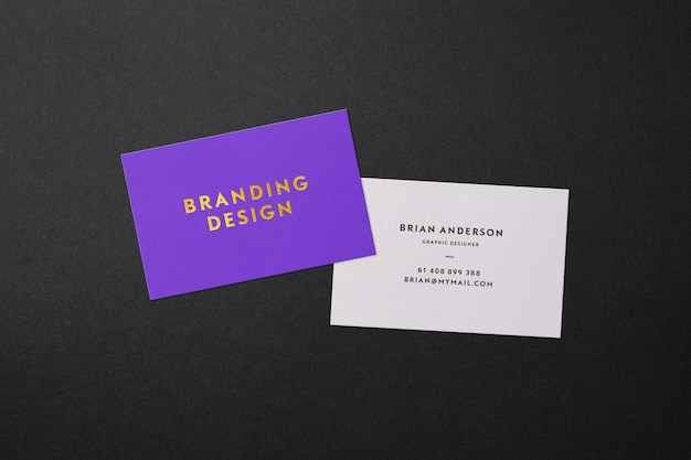 Modern business card mockup