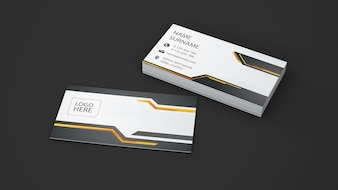 Modern business card showcase