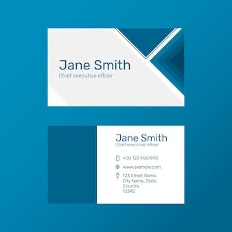 Modern business card template psd in navy blue