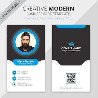 Современный шаблон визитной карточки